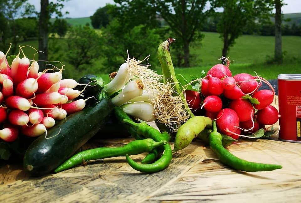 Légumes frais sur la table de Mutturfin